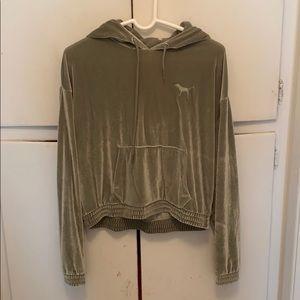 Velvet Victoria Secret crop hoodie